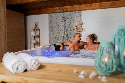 Bruid, Romantisch, Luxe, privÈ, sauna, en, een, heerlijke, liefdesovernachting