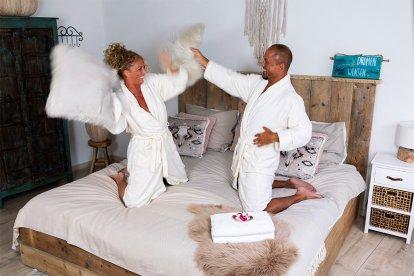 Just maried, Liefde, Luxe, privÈ, sauna, en, een, heerlijke, liefdesovernachting