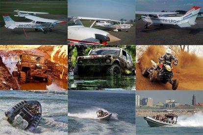 Combicadeau: te land, ter zee én in de lucht