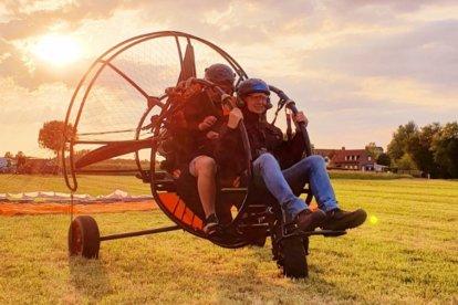 Paramotorvliegen met een trike