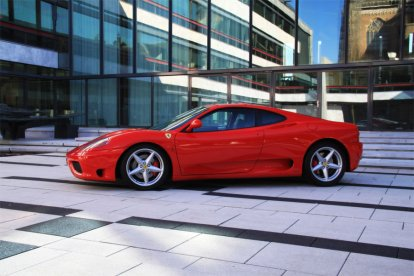 Rijden in twee Ferrari's